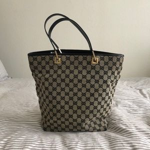 Gucci Canvas Leather Tote - EXCELLENT CONDITION